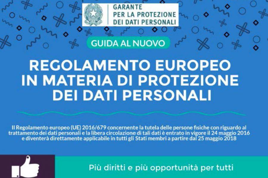 """Nuovo Regolamento Generale sulla Protezione dei Dati Personali """"GDPR"""""""