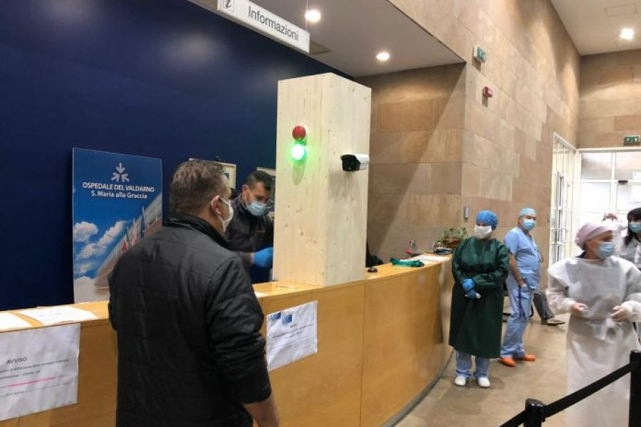 La Smau Gfi dona all'ospedale del Valdarno una telecamera termografica